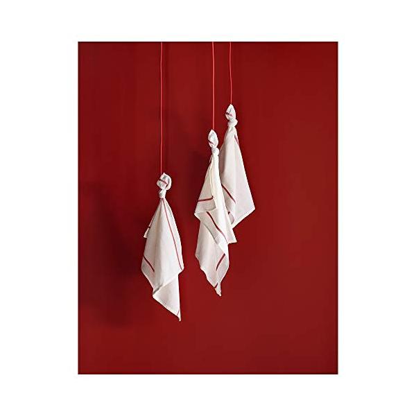 ★テクラ / TEKLA キッチンクロス / ホワイト / レッド[イケア]IKEA(10172798)|chamo-shop|05