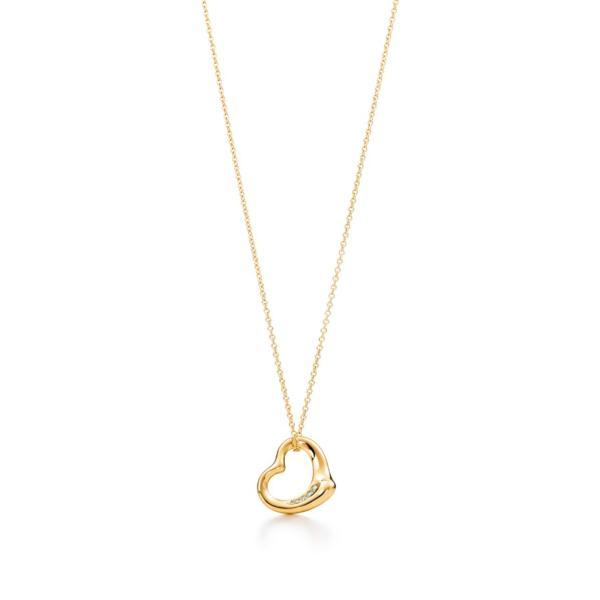 ティファニー TIFFANY ネックレス ゴールド 18K ダイヤモンド ハート
