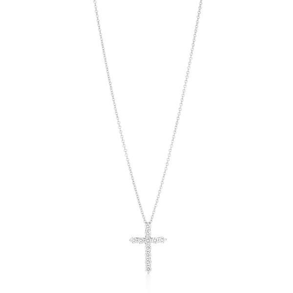 ティファニー TIFFANY ネックレス プラチナ ダイヤモンド 十字架 クロス