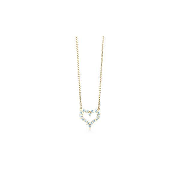 ティファニー TIFFANY ネックレス ゴールド 18K ダイヤモンド ハート スモール チェーン 41cm