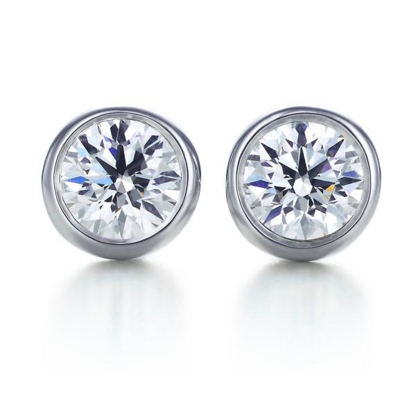 ティファニー TIFFANY ピアス プラチナ ダイヤモンド 0.16カラット