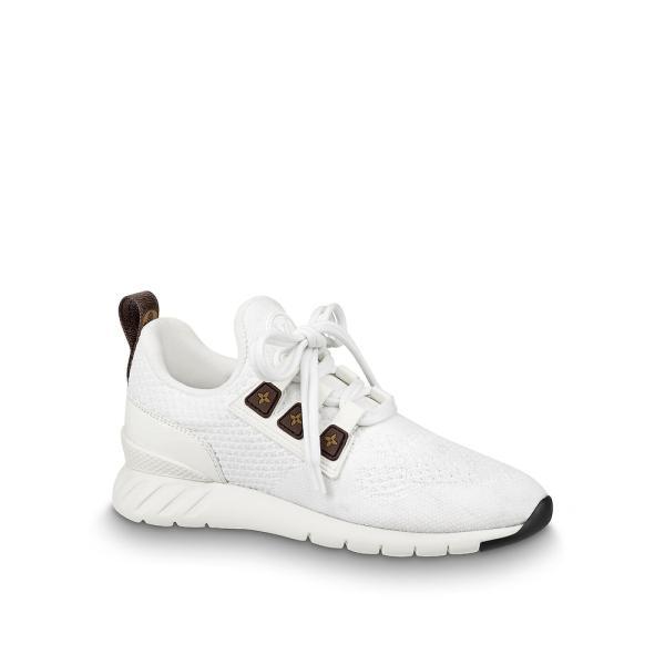 ルイヴィトン LOUIS VUITTON スニーカー シューズ 靴 ホワイト モノグラム ブラウン テクニカルファブリック