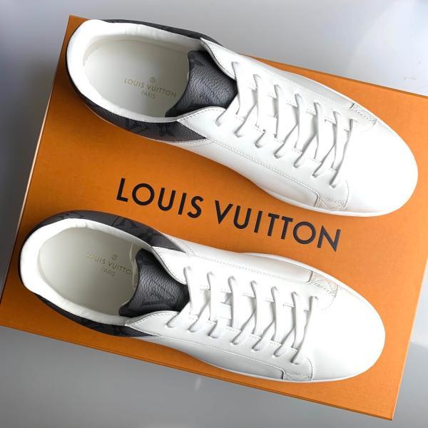 ルイヴィトン LOUIS VUITTON スニーカー シューズ 靴 ブロン ホワイト ブラック モノグラム エクリプス グレー レザー
