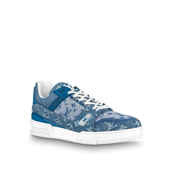 ルイヴィトン LOUIS VUITTON スニーカー シューズ 靴 デニム ブルー ホワイト モノグラム ラバー