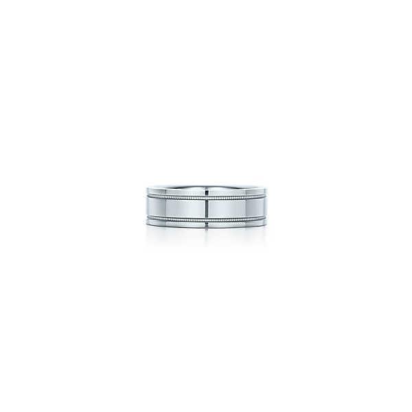 ティファニー TIFFANY 指輪 リング プラチナ ダブル ミルグレイン