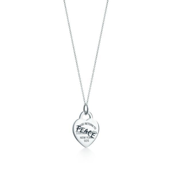 ティファニー TIFFANY ネックレス スターリングシルバー ハート ロゴ PEACE チェーン91.5cm