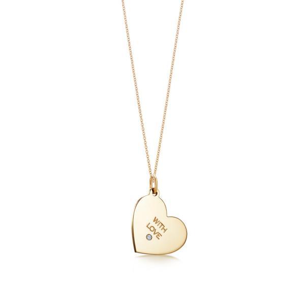 ティファニー TIFFANY ネックレス ゴールド 18K ダイヤモンド ハート チェーン91.5cm