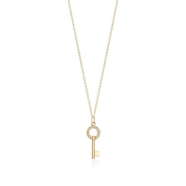 ティファニー TIFFANY ネックレス ゴールド 18K ダイヤモンド 鍵 キー チェーン91.5cm