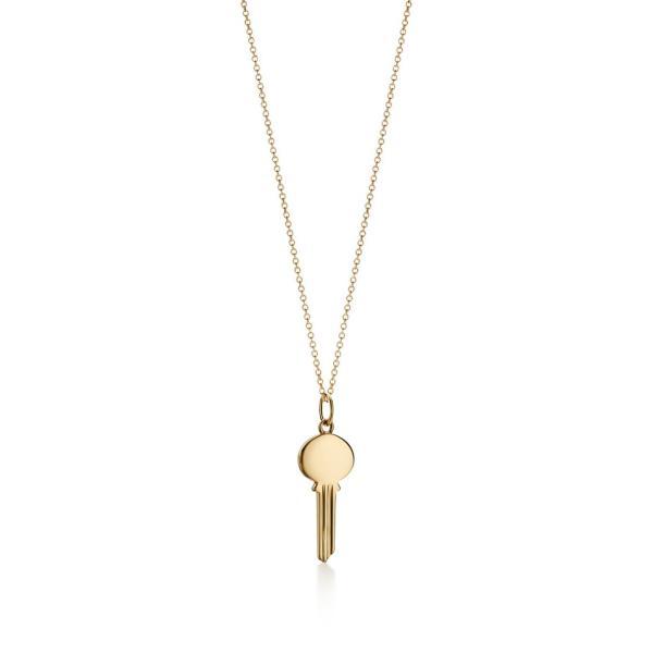 ティファニー TIFFANY ネックレス ゴールド 18K 鍵 キー チェーン 51cm