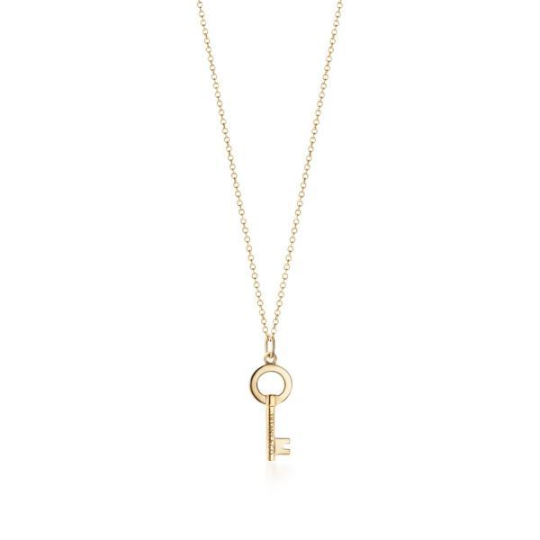 ティファニー TIFFANY ネックレス ゴールド 18K 鍵 キー チェーン51cm