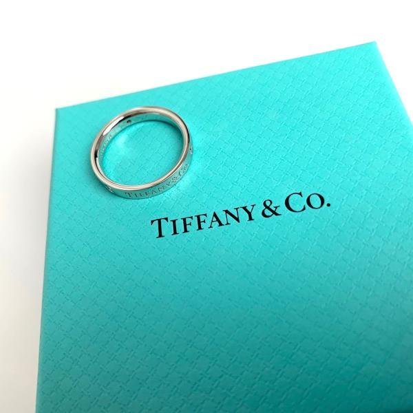 ティファニー TIFFANY 指輪 リング プラチナ ダイヤモンド ロゴ
