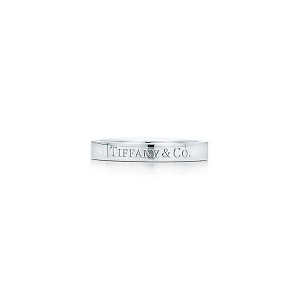 ティファニー TIFFANY 指輪 リング プラチナ ロゴ