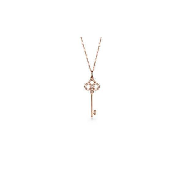 ティファニー TIFFANY ネックレス ローズゴールド 18K ダイヤモンド クラウン キー チェーン41cm