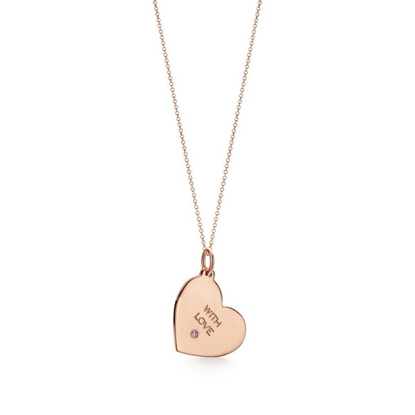 ティファニー TIFFANY ネックレス ローズゴールド 18K ピンク ダイヤモンド ハート チェーン77cm