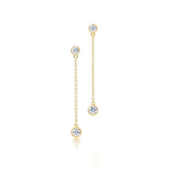 ティファニー TIFFANY ピアス ゴールド 18K ダイヤモンド チェーン