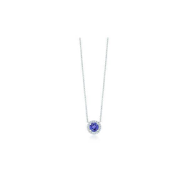 ティファニー TIFFANY ネックレス シルバー プラチナ タンザナイト ダイヤモンド ラウンド