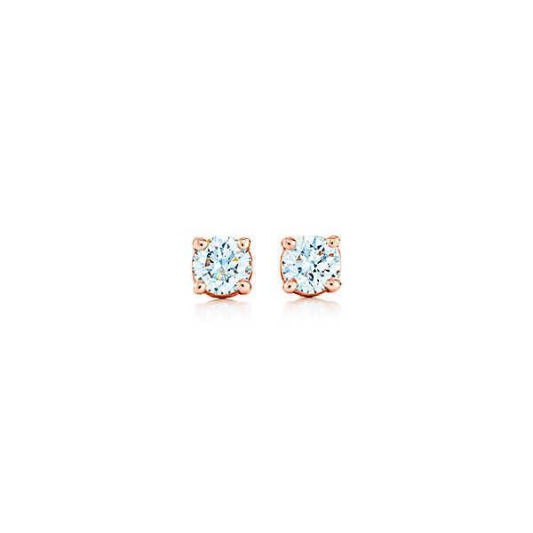 ティファニー TIFFANY ピアス ローズゴールド 18K ダイヤモンド 0.22カラット
