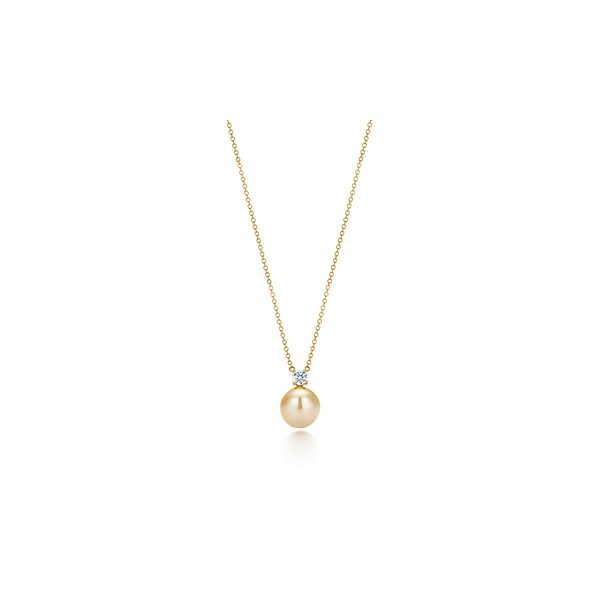 ティファニー TIFFANY ネックレス イエローゴールド 18K ダイヤモンド サウスシーパール