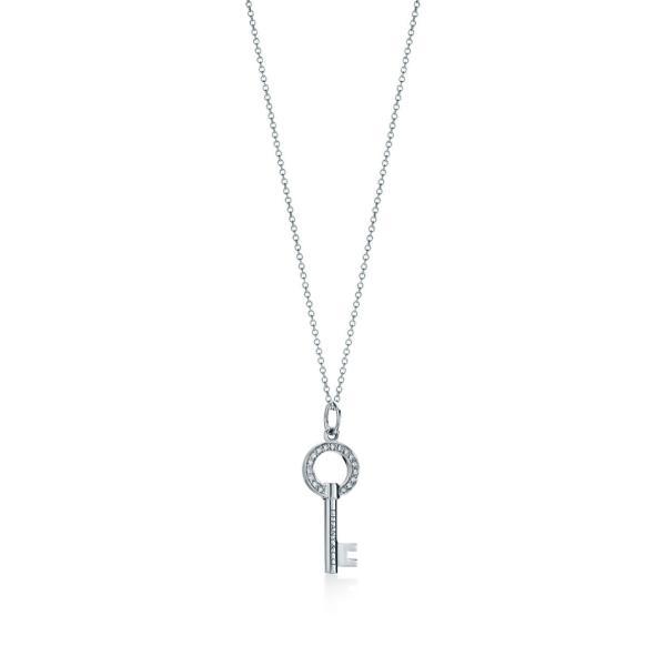 ティファニー TIFFANY ネックレス ホワイトゴールド 18K ダイヤモンド 鍵 キー チェーン46cm