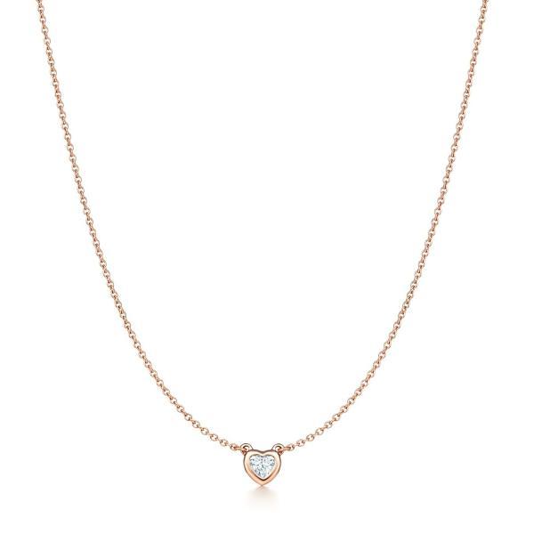 ティファニー TIFFANY ネックレス ローズゴールド 18K ダイヤモンド ハート