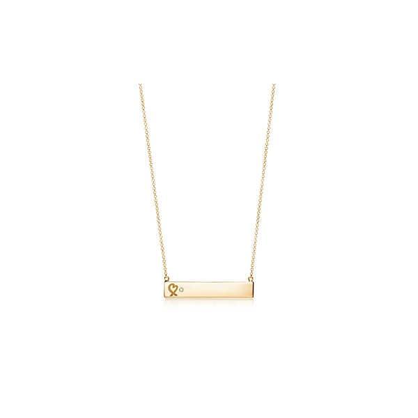 ティファニー TIFFANY ネックレス ゴールド 18K ダイヤモンド プレート ハート
