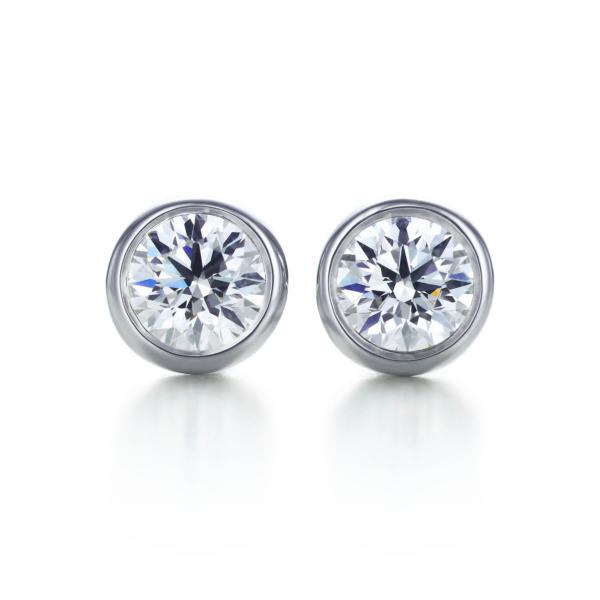 ティファニー TIFFANY ピアス プラチナ ダイヤモンド 0.34カラット
