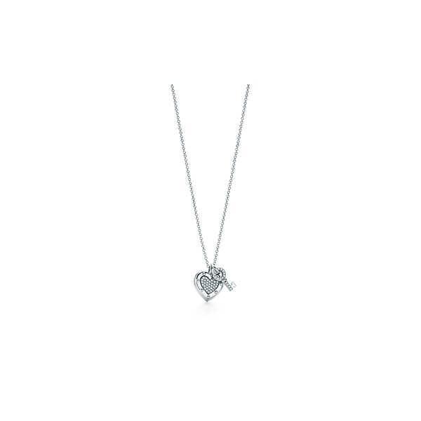 ティファニー TIFFANY ネックレス ホワイトゴールド 18K ダイヤモンド ハート キー
