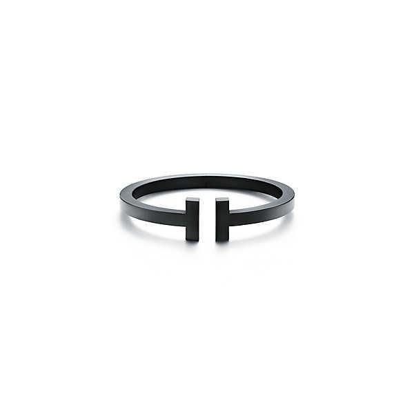 ティファニー TIFFANY ブレスレット ブラック ステンレススチーム Tモチーフ スモール