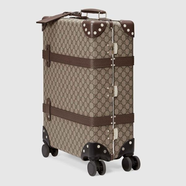 グッチ GUCCI バッグ バック スーツケース ベージュ エボニー ブラウン キャンバス レザー