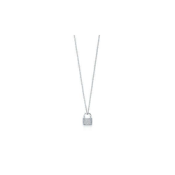 ティファニー TIFFANY ネックレス ホワイトゴールド 18K ダイヤモンド ロック 南京錠