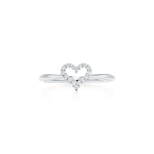 ティファニー TIFFANY 指輪 リング プラチナ ダイヤモンド ハート