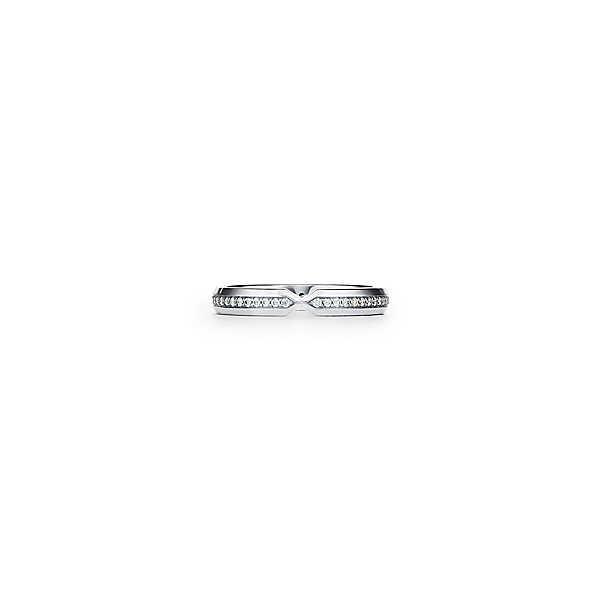 ティファニー TIFFANY 指輪 リング プラチナ ダイヤモンド Vモチーフ