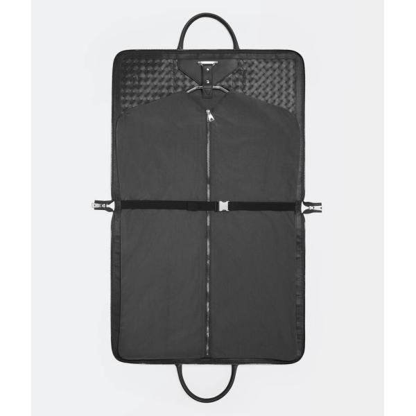 ボッテガヴェネタ BOTTEGA VENETA バッグ バック スーツケース ブラック シルバー 編み込み カーフスキン レザー