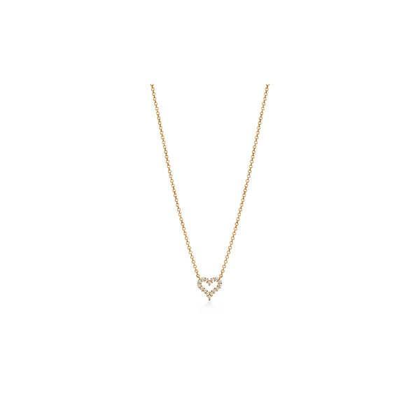 ティファニー TIFFANY ネックレス ゴールド 18K ダイヤモンド ハート  エクストラミニ チェーン 41cm
