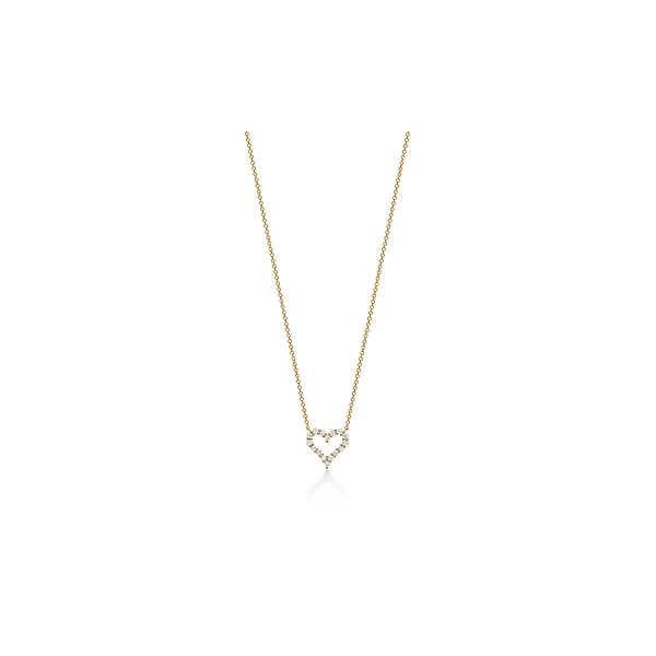 ティファニー TIFFANY ネックレス ゴールド 18K ダイヤモンド ハート ミニ チェーン 41cm