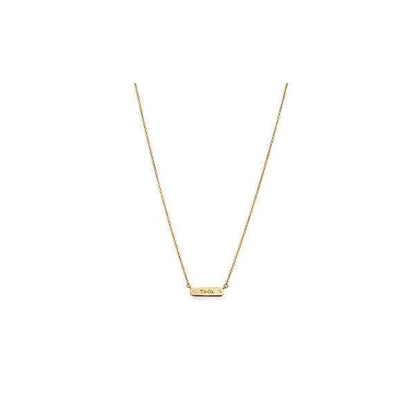 ティファニー TIFFANY ネックレス ゴールド 18K ダイヤモンド バー チェーン 41~46cm