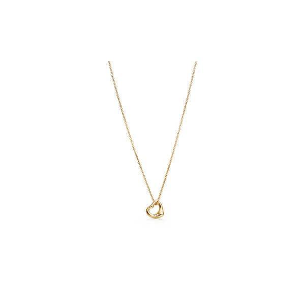 ティファニー TIFFANY ネックレス ゴールド 18K ダイヤモンド ハート チェーン 41cm