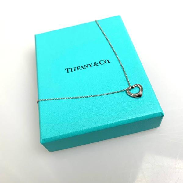 ティファニー TIFFANY ネックレス プラチナ ダイヤモンド ハート チェーン 41cm