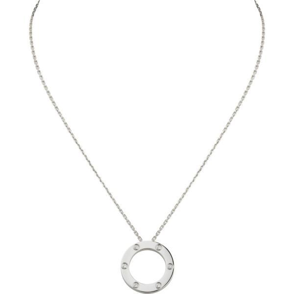 カルティエ CARTIER ネックレス ホワイトゴールド 18K ダイヤモンド