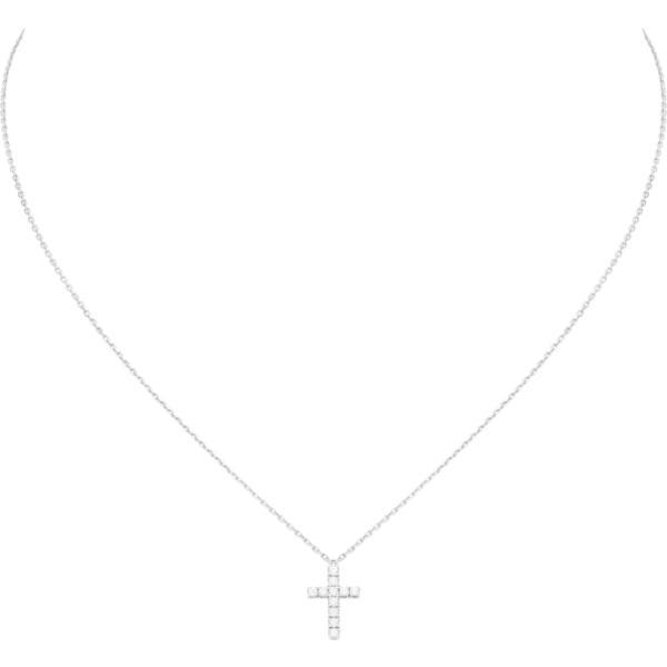 カルティエ CARTIER ネックレス ホワイトゴールド 18K ダイヤモンド クロス