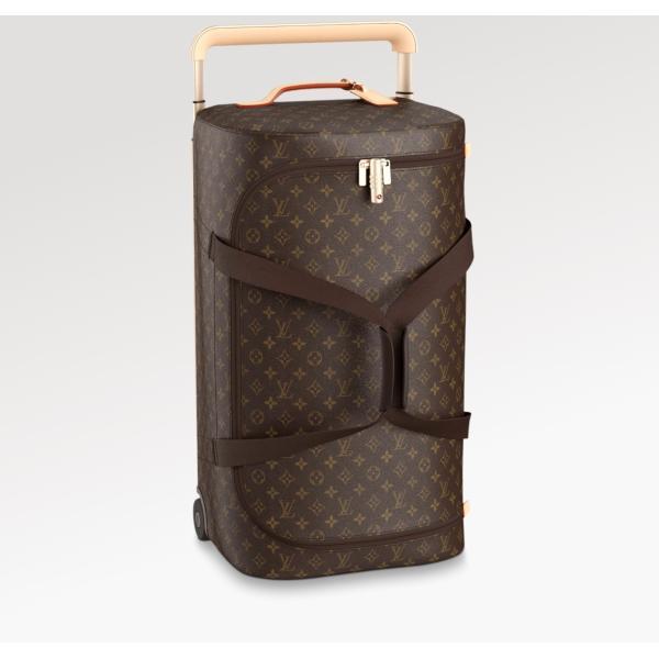 ルイヴィトン LOUIS VUITTON バッグ バック スーツケース モノグラム ブラウン ベージュ レザー 55L