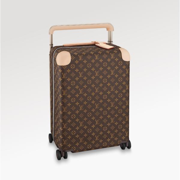 ルイヴィトン LOUIS VUITTON バッグ バック スーツケース モノグラム ブラウン ベージュ レザー 37L