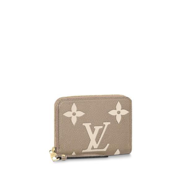 ルイヴィトン LOUIS VUITTON カードケース 名刺入れ パスケース コインケース トゥルトレール グレーベージュ ゴールド レザー