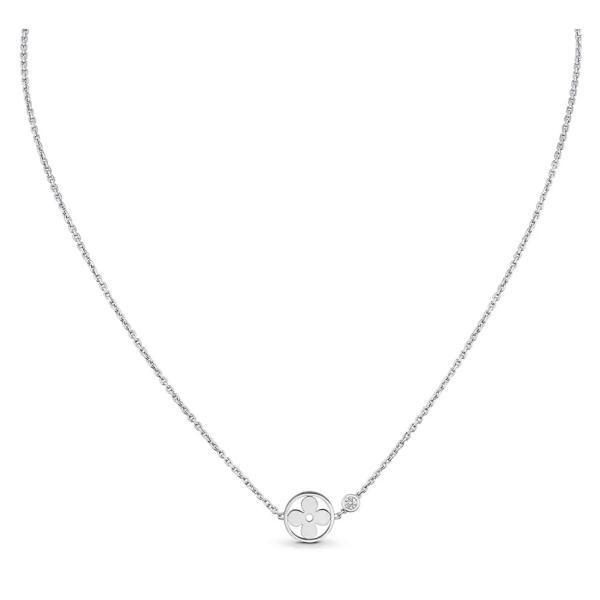 ルイヴィトン LOUIS VUITTON ネックレス 18K ホワイトゴールド ダイヤモンド