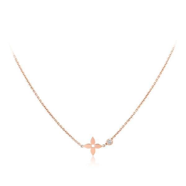 ルイヴィトン LOUIS VUITTON ネックレス 18K ピンクゴールド ダイヤモンド