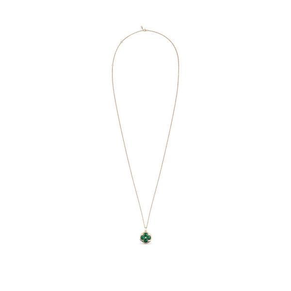 ルイヴィトン LOUIS VUITTON ネックレス 18K ピンクゴールド マラカイト ダイヤモンド