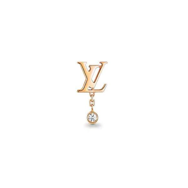 ルイヴィトン LOUIS VUITTON ピアス 18K ピンクゴールド ダイヤモンド 片耳用