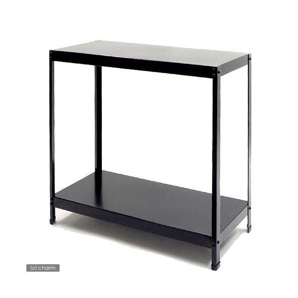 ニッソー 水槽台 60cm水槽用 組立2段台 ST−602 (スチール製) ブラック 60cm水槽用(キャビネット) お一人様1点限り