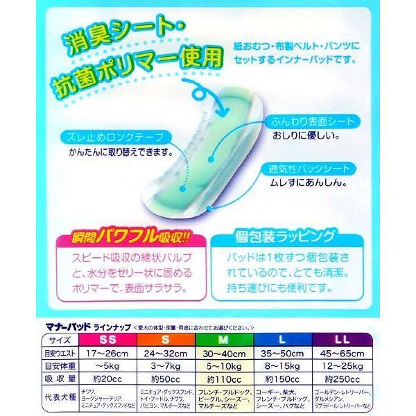 国産 男の子&女の子のためのマナーパッド 交換式 M ビッグパック 32枚 おもらし ペット 関東当日便|chanet|02
