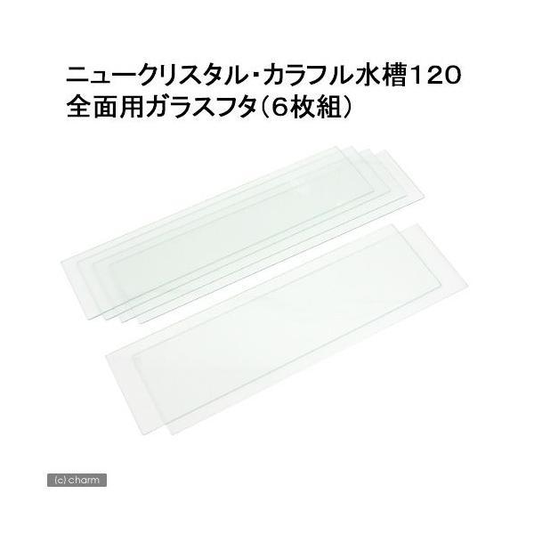 鈴木製作所 全面用ガラスフタ ニュークリスタル・カラフル水槽120 6枚組